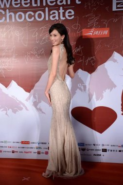Taiwanese model and actress Lin Chi-ling poses at the premiere of her new movie, Sweetheart Chocolate, in Beijing, China, 7 November 2013.