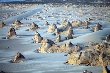Landscape of Kumtag Desert, part of Taklamakan Desert, in Turpan, northwest Chinas Xinjiang Uygur Autonomous Region, 19 October 2013