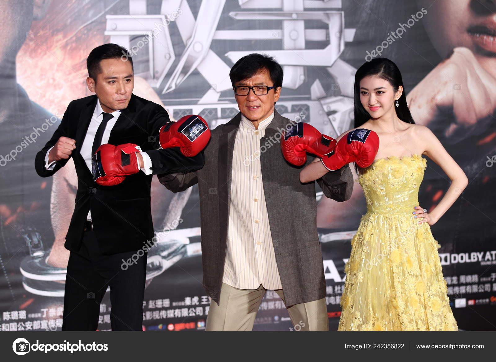 Left Chinese Actor Liu Hong Kong Actor Jackie Chan Chinese