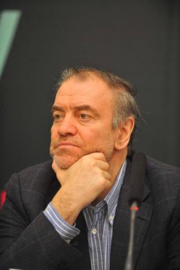 Russian conductor Valery Abisalovich Gergiev is pictured during the press conference for London Symphony Orchestra in Beijing, China, 4 March 2012.