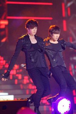 Members of South Korean pop group MBLAQ perform at the K-POP Festival Music Bank concert in Hong Kong, China, 23 June 2012
