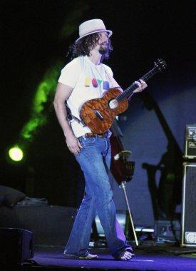 American singer-songwriter Jason Mraz performs during the Jason Mraz 2012 World Tour Taiwan concert in Taipei, Taiwan, 26 June 2012.