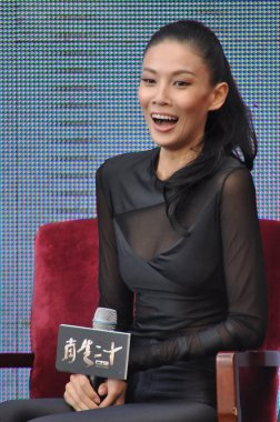 Chinese actress Zhang Lanxin attends a press conference for the premiere of the movie, CZ12, in Beijing, China, 14 October 2012.