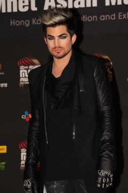 U.S. singer Adam Lambert poses on the red carpet as he arrives for the 2012 Mnet Asian Music Awards ceremony in Hong Kong, China, 30 November 2012.