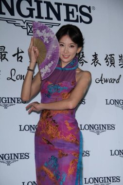 Taiwanese model and actress Lin Chi-ling poses during a promotional event to celebrate the 180th anniversary of Longines in Taipei, Taiwan, 22 November 2012