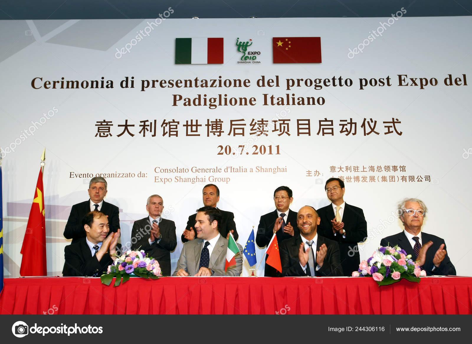 Ministro Das Relações Exteriores Italiano Franco Frattini Centro Fileira  Trás — Fotografia de Stock Editorial © ChinaImages #244306116