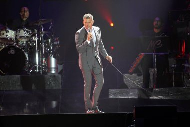 Canadian jazz singer Michael Buble performs at his concert in Hong Kong, China, March 11, 2011.
