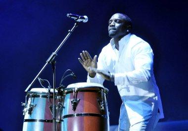 Senegalese-American R&B singer Aliaune Damala Badara Thiam, better known as Akon, performs at a concert during his China tour in Guangzhou city, south Chinas Guangdong province, 7 November 2011.