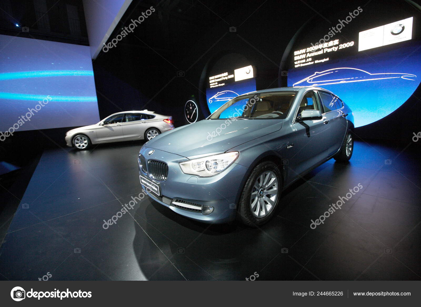 Two Bmw Series Gran Turismo Cars Displayed Launch Ceremony Shanghai Stock Editorial Photo C Chinaimages 244665226