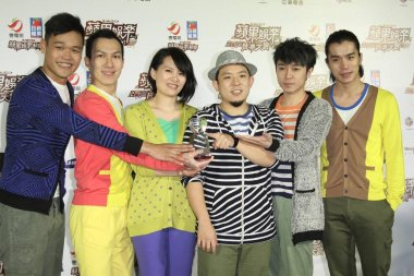 Taiwanese music band Sodagreen pose during 2011 E-Music Awarding Ceremony in Taipei, Taiwan, 22 December 2011.