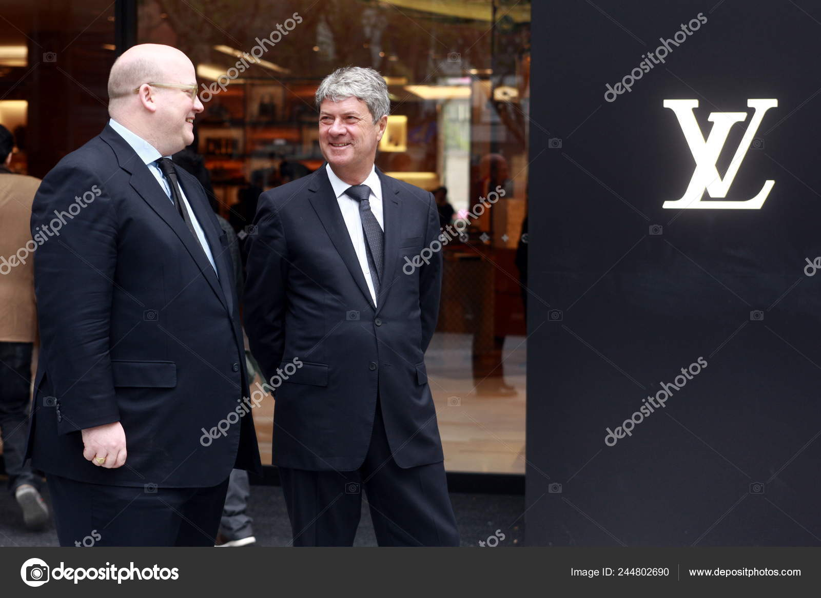 caca97380db Yves Carcelle Right Chairman Ceo Louis Vuitton Talks Christopher ...