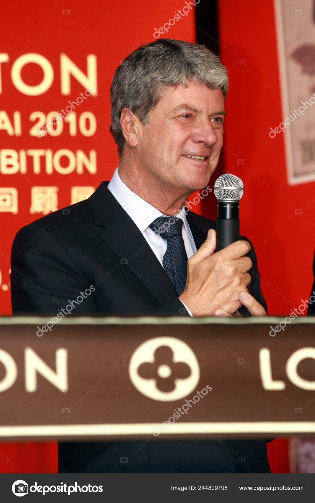 28561d1b73b Yves Carcelle Chairman Ceo Louis Vuitton Speaks Opening Ceremony ...