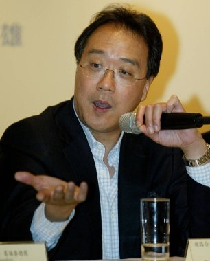 Renowned cellist Yo-Yo Ma speaks during a press conference for his upcoming concerts in Taipei, Taiwan, April 21, 2010