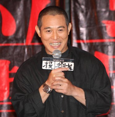Chinese actor Jet Li during a press conference for the opening of the official website of film The Warlords, in Shanghai 12 July 2007