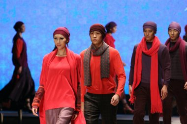 Models parade during a Erdos 1436 fashion show, during the China Fashion Week 2008 in Beijing, November 6, 2008.