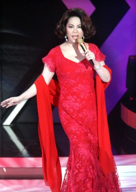 Taiwanese singer Tsai Chin performs during a concert in Taiwan, September 8, 2008.