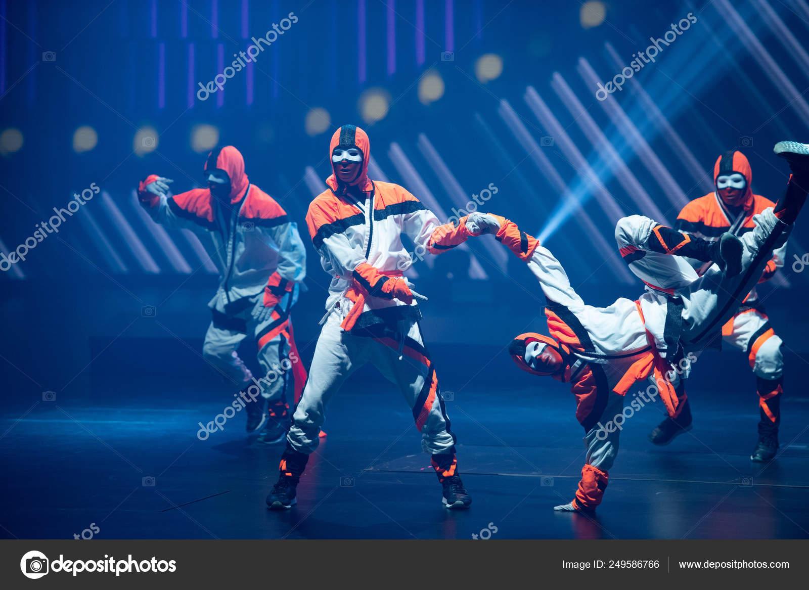 Members American Hip Hop Dance Crew Jabbawockeez Perform
