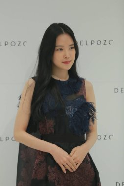 South Korean singer Son Na-eun of South Korean girl group Apink attends a promotional event for Delpozo at the Lotte Department Store in Seoul, South Korea, 14 September 2018.