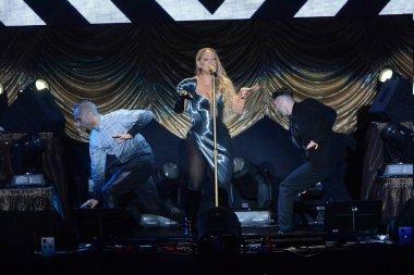 American singer Mariah Carey performs at her concert in Taipei, Taiwan, 26 October 2014.