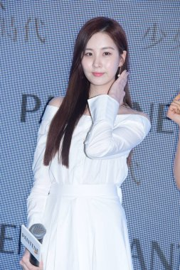 Singer and actress Seo Ju-hyun, known as Seohyun, of South Korean girl group Girls' Generation attends a promotional event for hair care brand Pantene in Hong Kong, China, 11 March 2017.