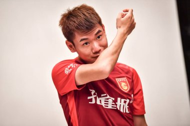**EXCLUSIVE**Feng Gang of Hebei China Fortune F.C. poses during the filming session of official portraits for the 2019 Chinese Football Association Super League, in Guangzhou city, south China's Guangdong province, 27 February 2019.