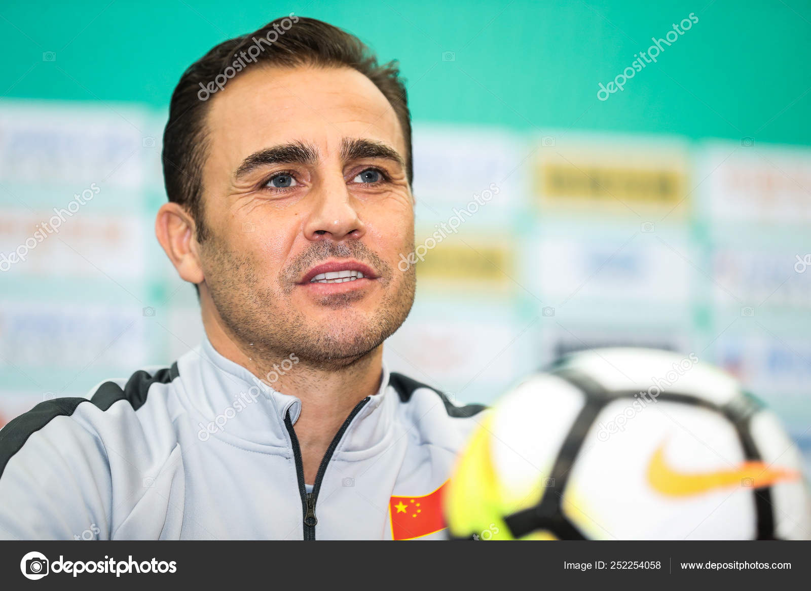 6aae7e117 Head coach Fabio Cannavaro of China national football team attends a press  conference for 2019 Gree China Cup International Football Championship  against ...