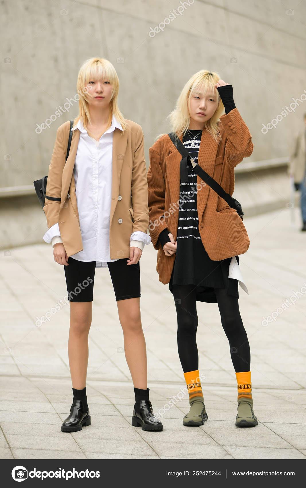 Korean Female Winter Fashion South Korea 2019 Fall Winter Seoul Fashion Week Stock Editorial Photo C Imaginechina Editorial 252475244