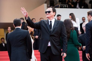 American director Quentin Tarantino arrives on the red carpet for the premiere of  the movie