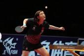 Chen Meng Kína visszatér a lövés a Wang Manyu Kína a döntőt a női Singles során Seamaster 2019 Ittf World Tour Platinum China Open Shenzhen város, Dél-Kínai Guangdong tartomány, június 2, 2019