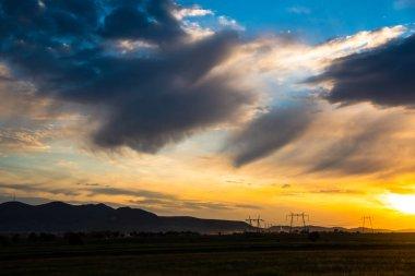 """Картина, постер, плакат, фотообои """"удивительный вид на природу на фоне облачного неба """", артикул 233068958"""