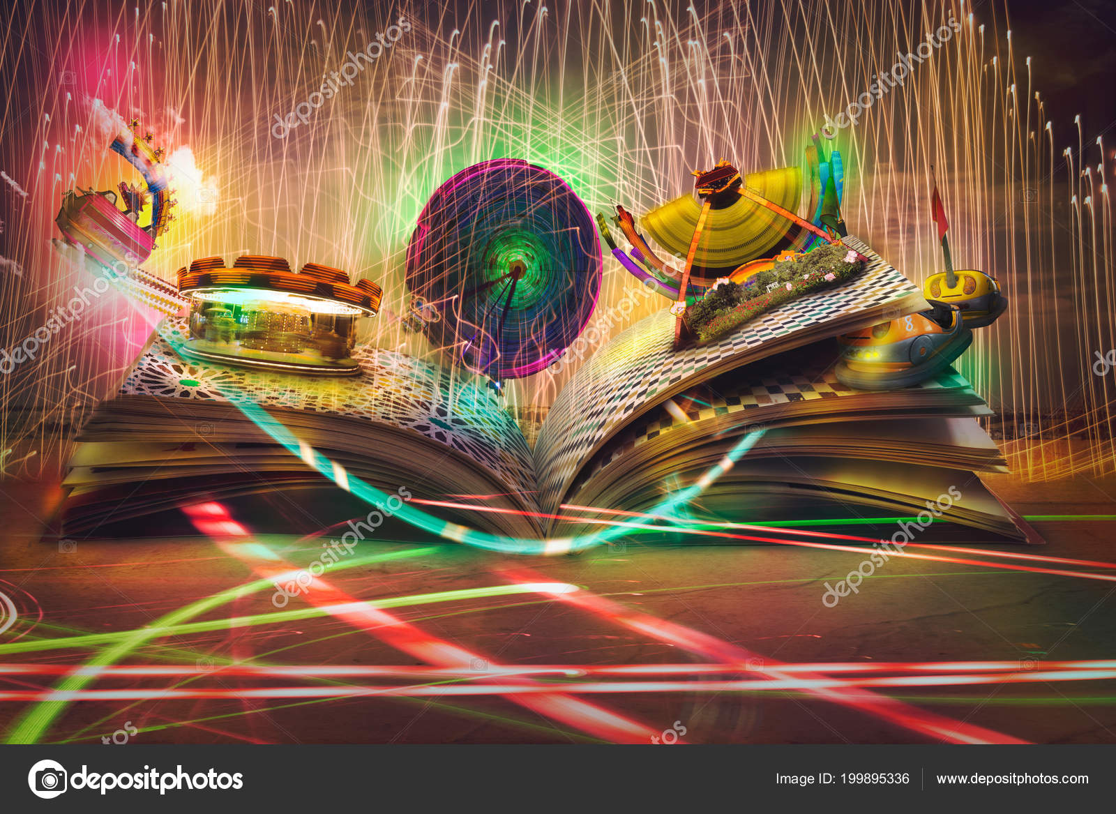 Abrir Libro Magia Historias Cuentos Educativos Flotante Parque ...