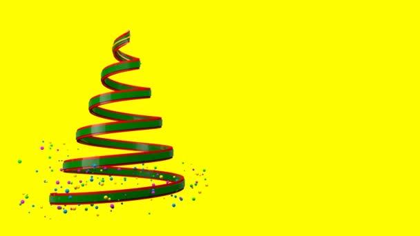 Umělecké rostoucí abstraktní barevné vánoční strom s Pop Veselé Vánoce kreativní animace. Vánoční stromeček pohyb na pozadí. Další možnosti barev v mém portfoliu