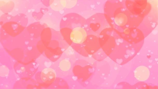 Hurkolás a szív Bokeh, úszó és ragyogó szív Bokeh Valentin-nap romantikus hátteret. Szeretet a levegőben.