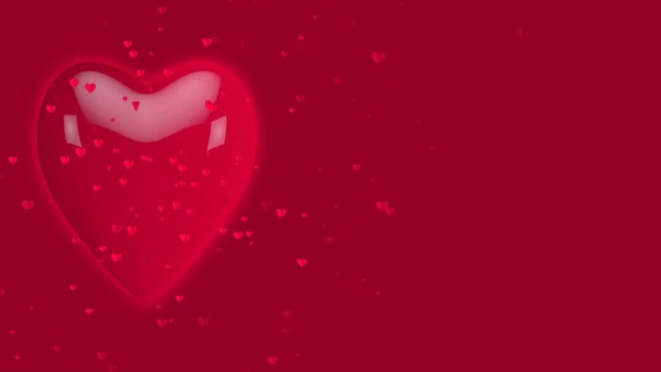 Dancing and Jumping Heart valentines day Background for.Heart Generating Bouncing Heart background for wedding, birthday, enguagement etc . .