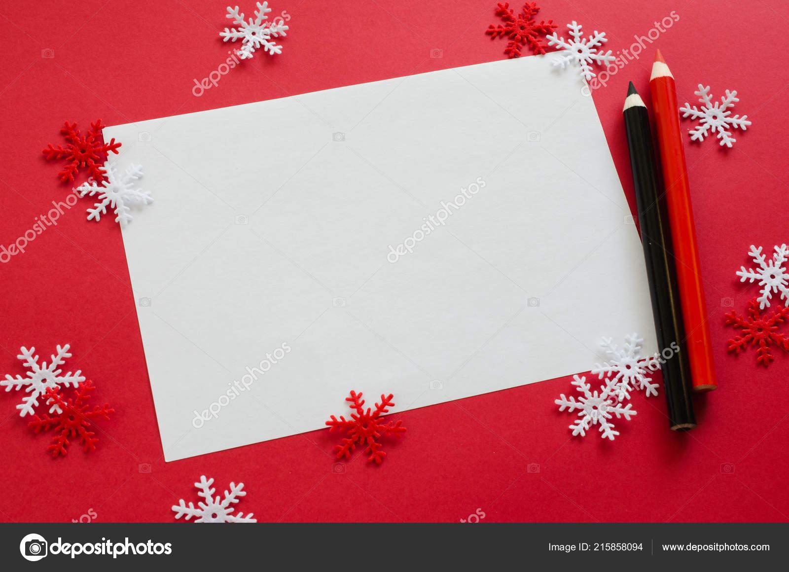 Maquette Carte Noël Minimaliste Avec Des Flocons Neige