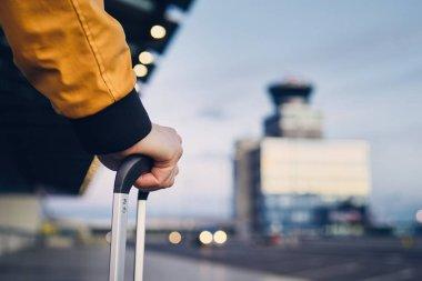 Close-up shot of luggage