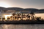 RIO DE JANEIRO, BRAZIL - AUGUST 11TH, 2018: Museum of Tomorrow, a science museum in Rio de Janeiro. Designed by Spanish architect Santiago Calatrava and built next to the waterfront at Pier Maua.