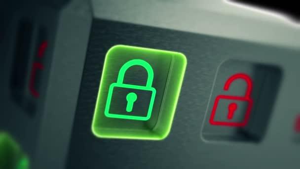 Bizalmas személyes adatok biztonsága az interneten. 4k Uhd zökkenőmentes hurok animáció.