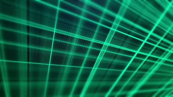 Abstract fractal vector green lines video animation
