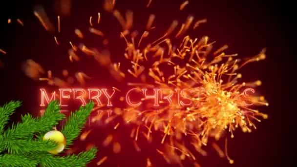 Veselé Vánoce zimní přání s létající jiskru
