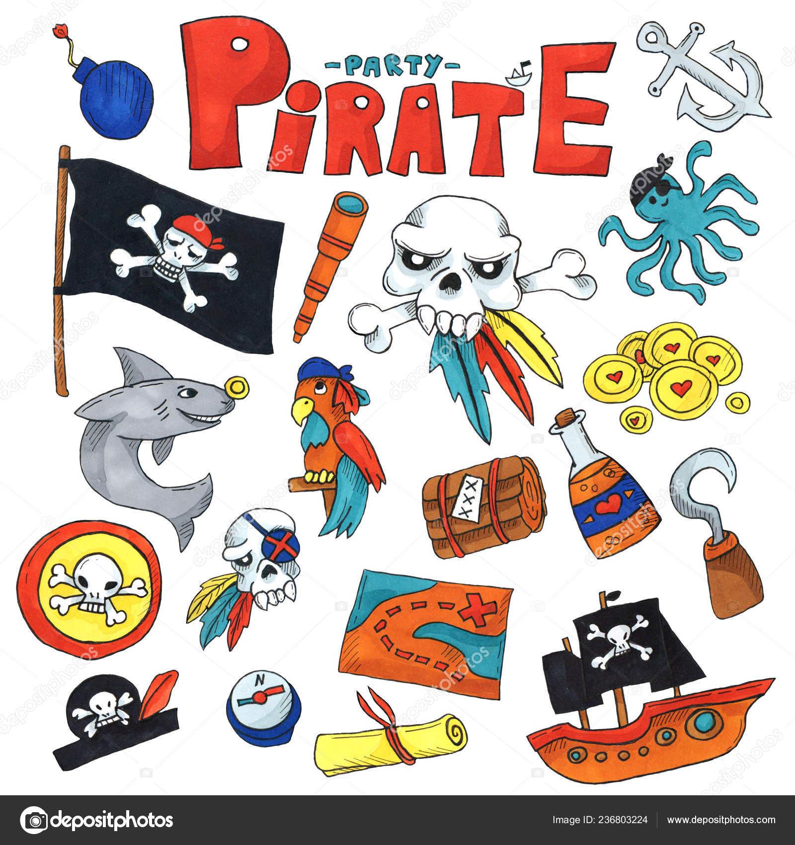 Mapa Del Tesoro Pirata Para Niños.Arte Marcador Set Fiesta Pirata Para Ninos Kinder Kids Ninos