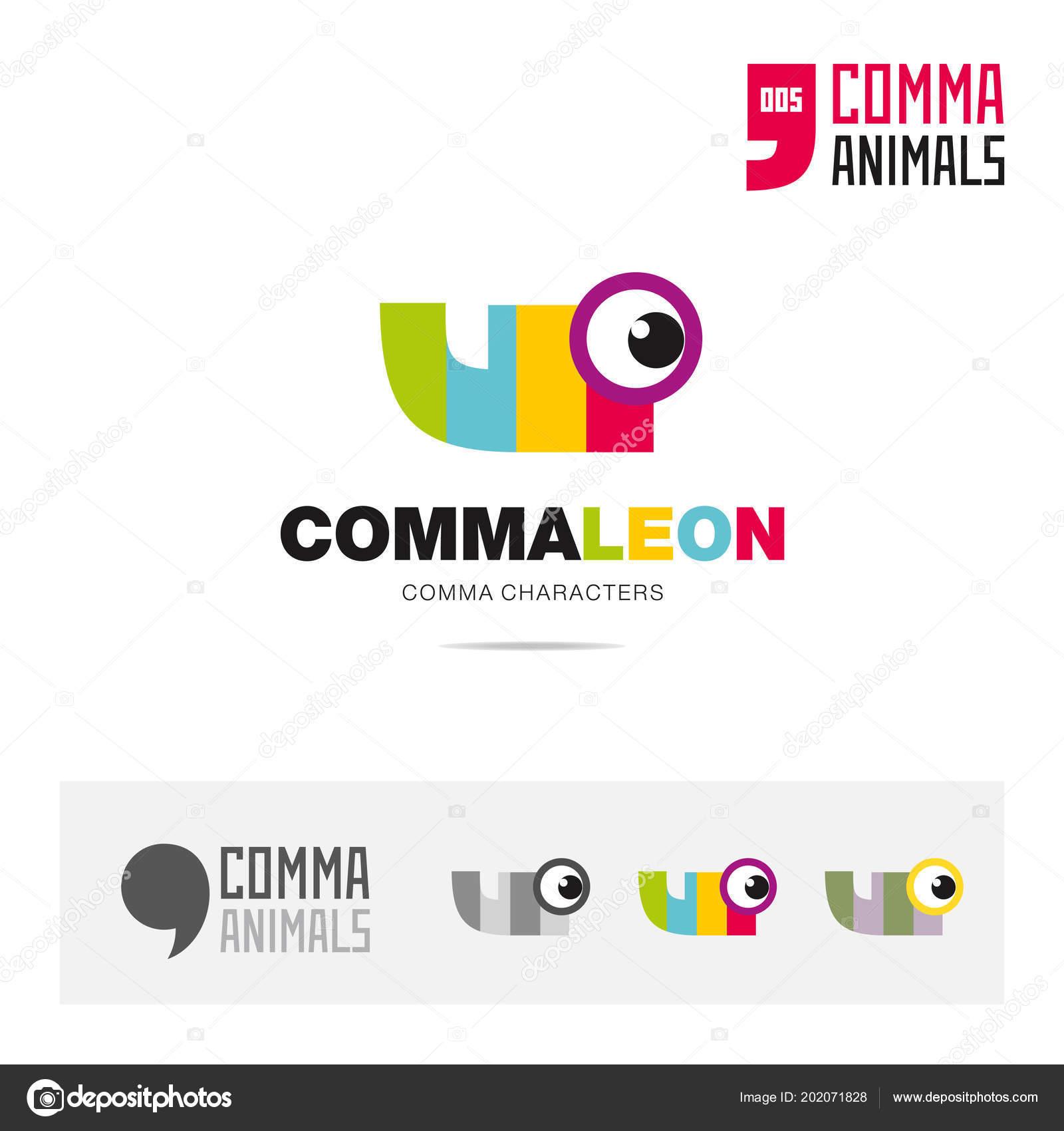 Chameleon Animal Concept Icon Set Modern Brand Identity Logo ...