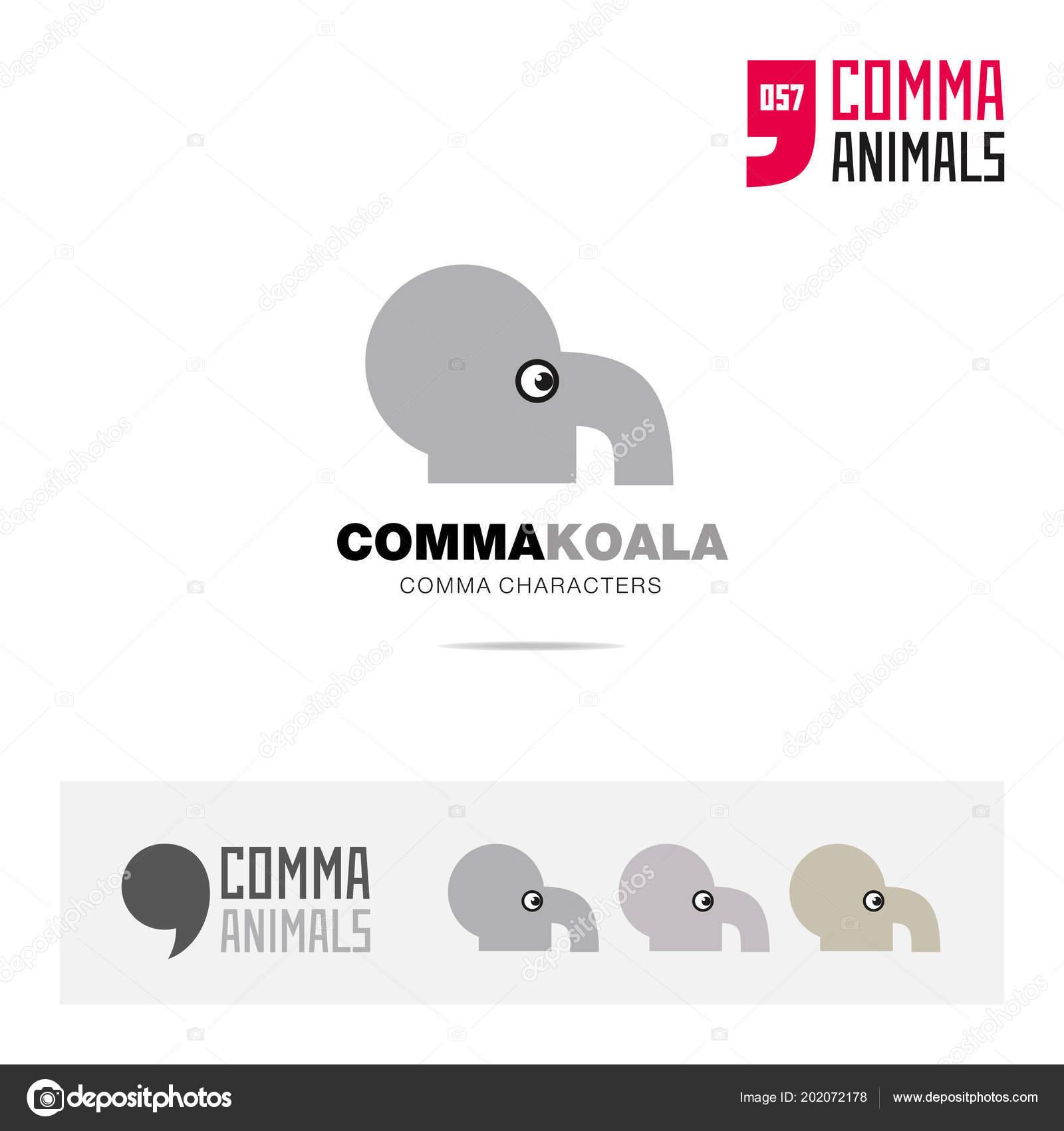 Conjunto Icono Koala Animal Concepto Símbolo Plantilla Aplicación ...