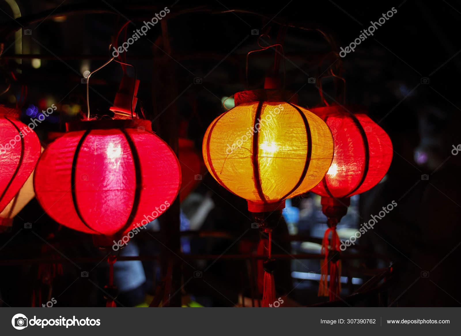 Famous Lanterns Hoi Vietnam Lantern Festival Stock Photo C Mcjvil 307390762