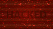 Fotografie ASCII Art background with word hacked. Data backdrop with Blur Effect with program computer code. Vector Illustration with concept of Hacking. Banner with Ddos-attack, Spam and Computer Virus Concept.