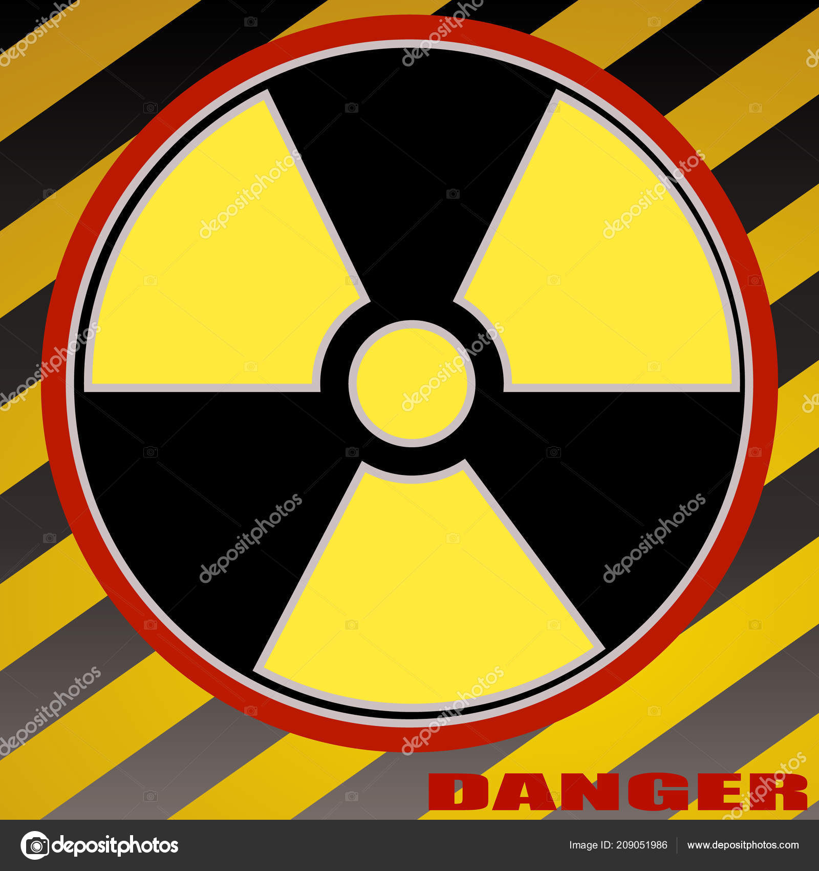 Caution Chemistry Danger Dangerous Icon Isolated Nuclear Radiation