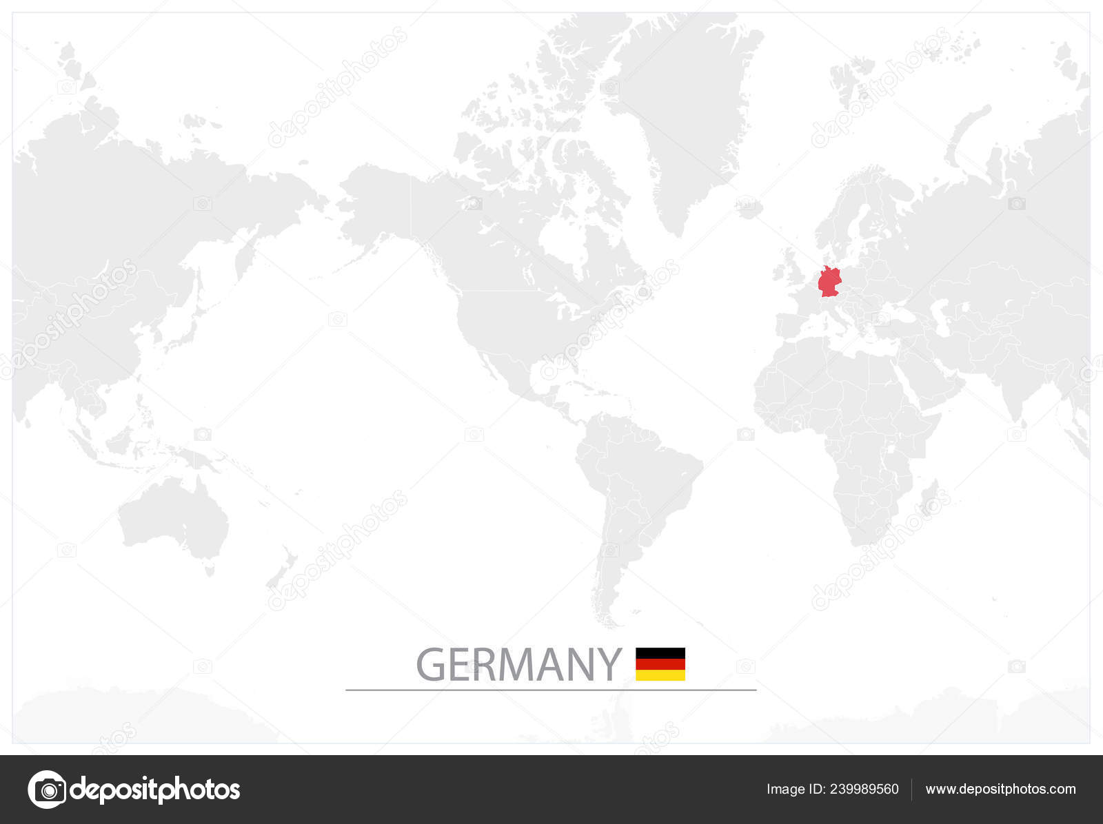 World Map Identification Germany America Centered World Map ...