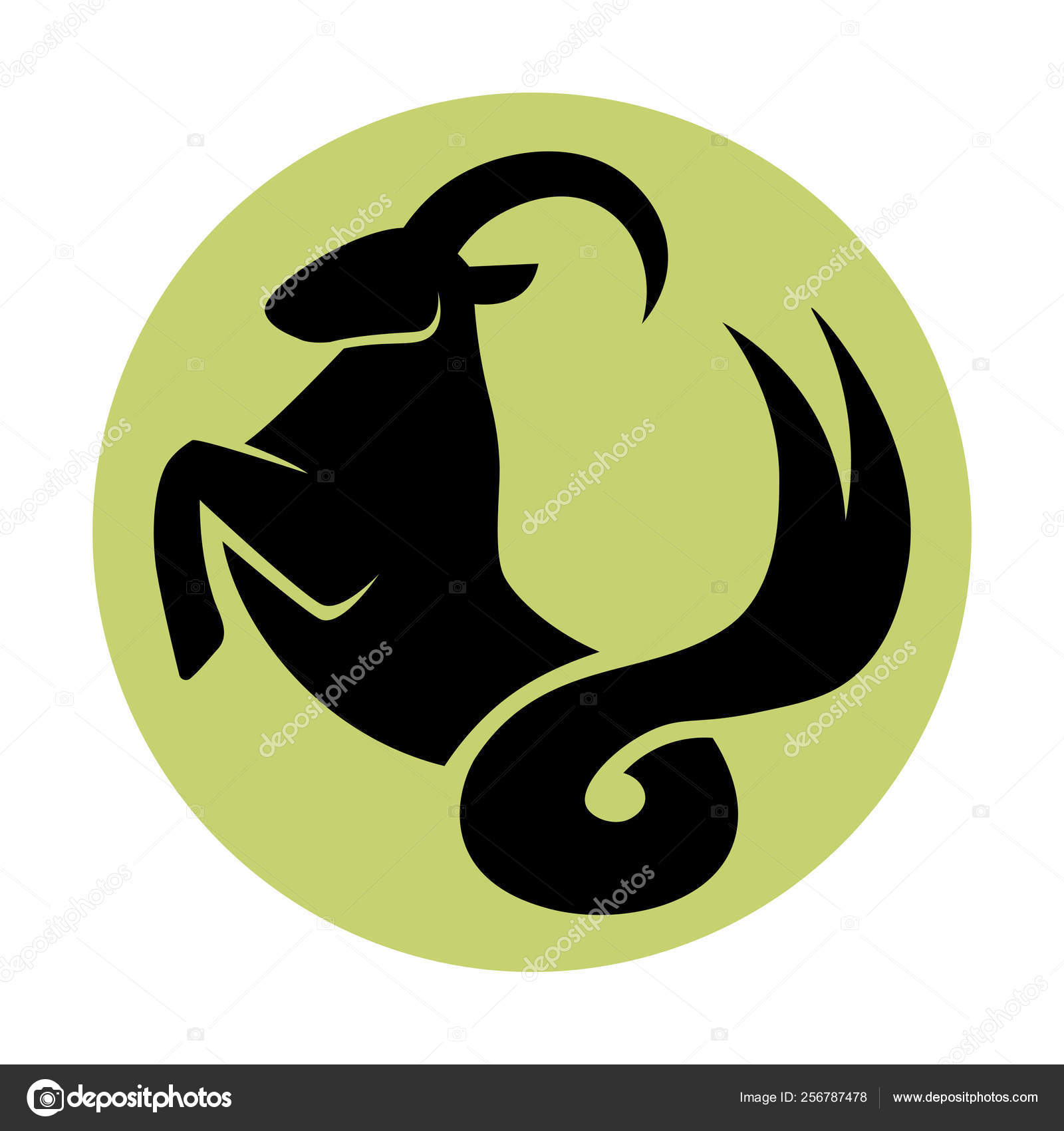 Sign Of The Zodiac Capricorn Isolated — Stock Vector