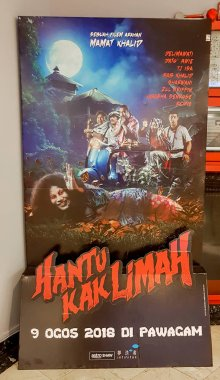KUALA LUMPUR, MALAYSIA - AUGUST 26, 2018: Hantu Kak Limah movie poster. This movie is directed by Mamat Khalid