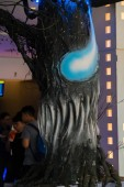 KUALA LUMPUR, MALAYSIA - SEPTEMBER 29, 2018: Venom movie standee, this movie is about Eddie Brock acquires the powers of a symbiote, and become Venom